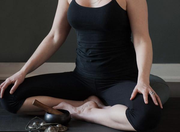 Sheri doing yoga